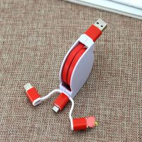 Retractable Charging Cable with Type-C