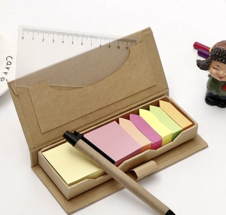 Post It with Ruler & Pen Set
